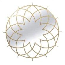 Gold Metal Spirograph Mirror
