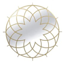 Gold Metal Spirograph Mirror