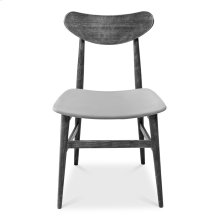 Mid-Century Side Chair, Frame, Fabric