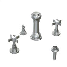 Savina 3-Hole Bidet Faucet Cross Handles - Polished Chrome