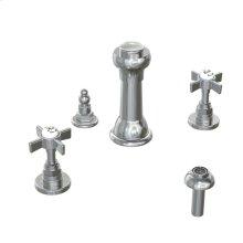 Savina 3-Hole Bidet Faucet Cross Handles - Polished Chrome