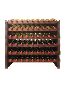 108 Bottle Double Modular Wine Rack (Stained)