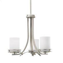 Hendrik Collection Hendrik 3 Light Chandelier - Brushed Nickel