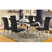 Barzini Dining Contemporary Black Dining Table