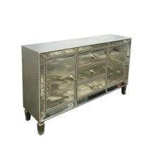 Metallic Platinum Accent Cabinet