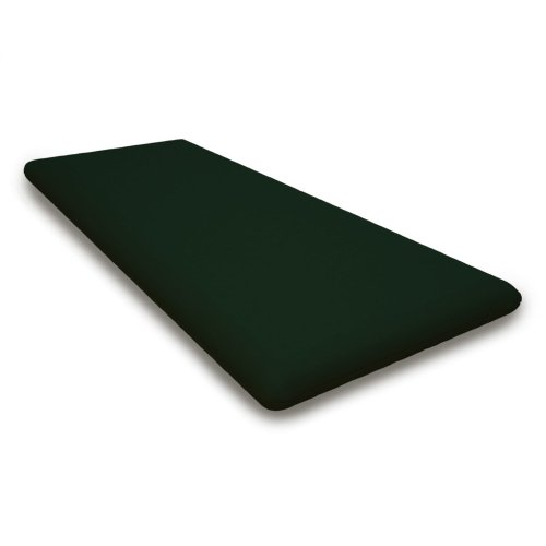 "Forest Green Seat Cushion - 17""D x 40.5""W x 2.5""H"