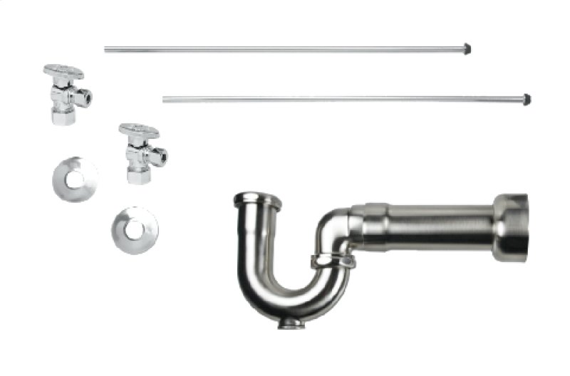 Lavatory Supply Kit W Machusetts P Trap Angle Br Oval Handle
