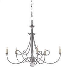 Visual Comfort SC5005AS Eric Cohler Double Twist 5 Light 36 inch Antique Silver Chandelier Ceiling Light