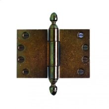 """Butt Hinge (wide throw) - 4"""" x 6"""" Silicon Bronze Brushed"""