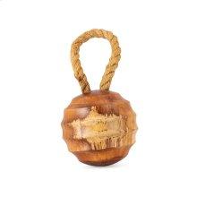 Loxley Small Teak Wood Decorative Ball