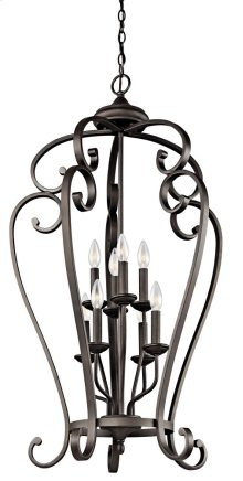 Monroe 8 Light Cage Foyer Chandelier Olde Bronze®