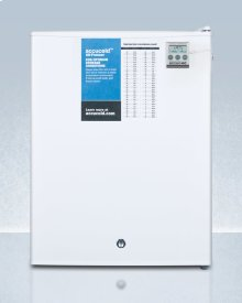 Compact Manual Defrost All-freezer for Medical/general Purpose Use, With Nist Calibrated Thermometer and Lock