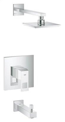 Eurocube Pressure Balance Valve Bathtub/Shower Combo Faucet