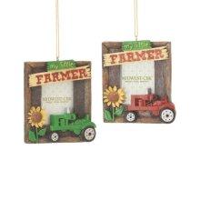 """""""My Little Farmer"""" 1 1/2 x 2 Frame Ornament (2 asstd)."""