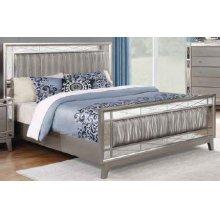 Leighton Contemporary Metallic Full Bed