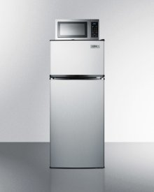 Frost-free Refrigerator-freezer-microwave Combination Unit In Stainless Steel