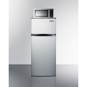 SummitFrost-free Refrigerator-freezer-microwave Combination Unit In Stainless Steel