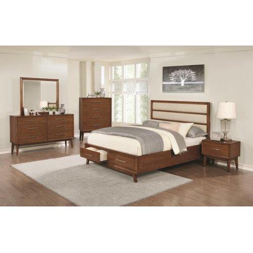 Banning Mid-century Modern Mango Eastern King Five-piece Set