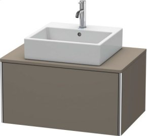 Vanity Unit For Console Wall-mounted, Flannel Grey Satin Matt Lacquer