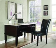 "Monarch White Marble Top Writing Desk, 52"" x 28"" x 31"" Product Image"