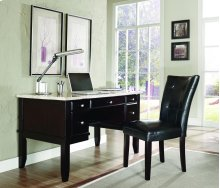 "Monarch White Marble Top Writing Desk, 52"" x 28"" x 31"""