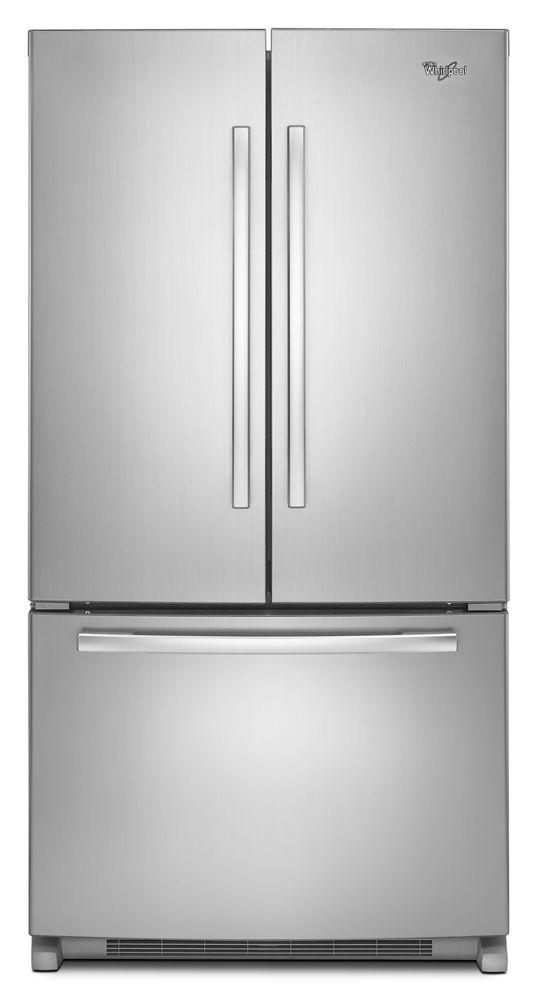36 Inch Wide French Door Refrigerator With Interior Water Dispenser 25 Cu Ft French Door