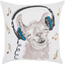 """Trendy, Hip, New-age Jb214 White 18"""" X 18"""" Throw Pillows"""