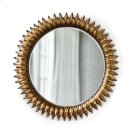 Sun Flower Mirror In Antique Gold Product Image