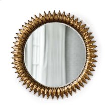 Sun Flower Mirror In Antique Gold