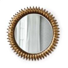 Sun Flower Mirror In Antique Gold