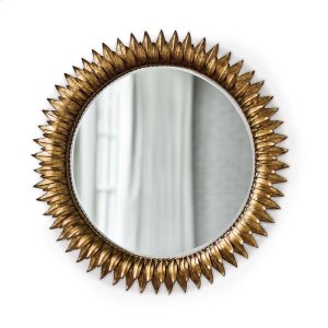 Regina Andrew  Sun Flower Mirror In Antique Gold
