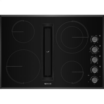 "30"" JX3(TM) Electric Downdraft Cooktop, Black"
