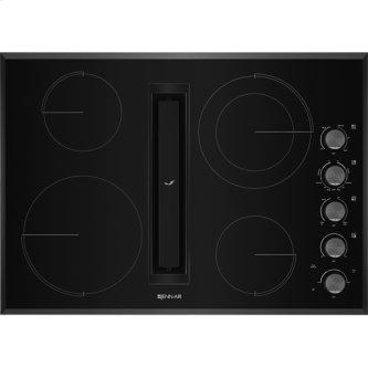 "30"" JX3(TM) Electric Downdraft Cooktop, Black"