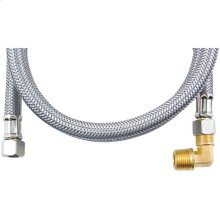 Braided Stainless Steel Dishwasher Connector with Elbow (4ft)