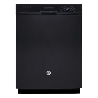 """GE 24"""" Built-In Stainless Steel Tall Tub Dishwasher Black GBF630SGLBB"""