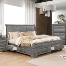 Cm7302gyek In By Furniture Of America Simi Valley And Ventura Ca King Size Brandt Bed