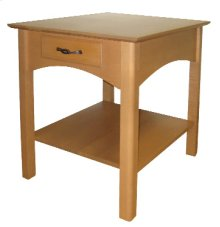 Rectangular End Table with Drawer & Shelf