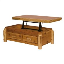 Enclosed Coffee Table - Natural Cedar