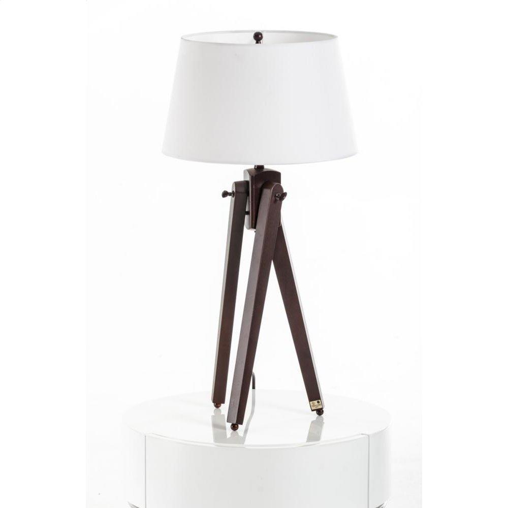 Modrest Della White and Wood Table Lamp