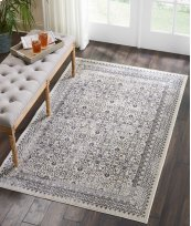 Silver Screen Ki342 Grey Rectangle Rug 4' X 6'