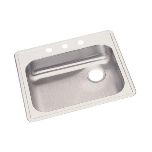 "Dayton Stainless Steel 25"" x 21-1/4"" x 5-3/8"", Single Bowl Drop-in Sink"