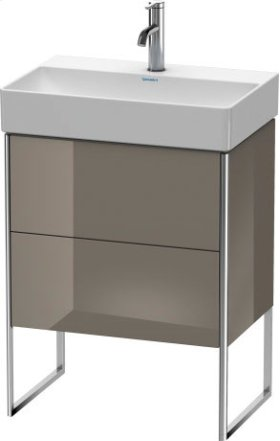 Vanity Unit Floorstanding Compact, Flannel Grey High Gloss Lacquer