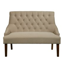 Uph Low Arm Tuft Bench - Dune Beige