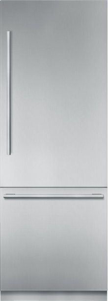 "30"" Stainless Steel Built in 2 Door Bottom Freezer, Pre-Assembled, Masterpiece® Handle T30BB910SS"