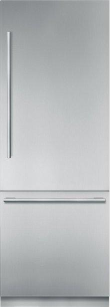 "30"" Stainless Steel Built in 2 Door Bottom Freezer, Pre-Assembled, Masterpiece® Handle T30BB910SS"