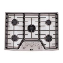 """LG Studio - 30"""" Gas Cooktop with the Professional Look of Stainless Steel"""