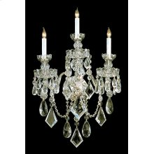 Traditional Crystal 3 Light Crystal Wall Sconce