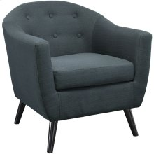 Wit Upholstered Fabric Armchair in Gray