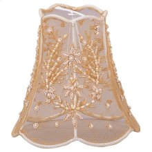 """5"""" Gold Beaded Shade on Lace"""