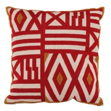 Embroidered Pillow,Feather Fill